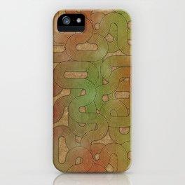 retro swirls iPhone Case