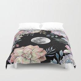 succulent full moon 4 Duvet Cover