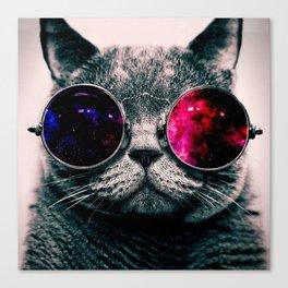 sunglasses cat Canvas Print