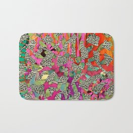 Hot Pink & Red Abstract Art Collage Bath Mat