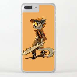 Cat Punk Clear iPhone Case