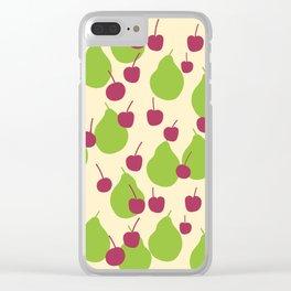 Pears n' cherries Clear iPhone Case