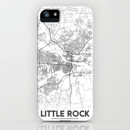 Minimal City Maps - Map Of Little Rock, Arkansas. iPhone Case