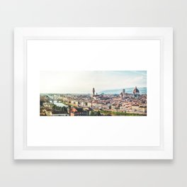 Florence, Italy Panorama Framed Art Print