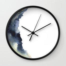 Crescent Moon Watercolor Wall Clock
