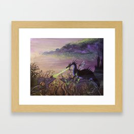 Maleficent's Wrath Framed Art Print