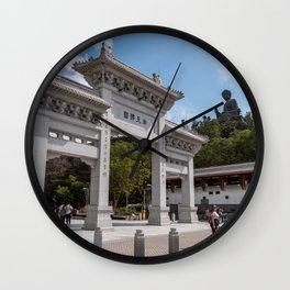 Po Lin Monastery & Tian Tan Buddha, Hong Kong Wall Clock