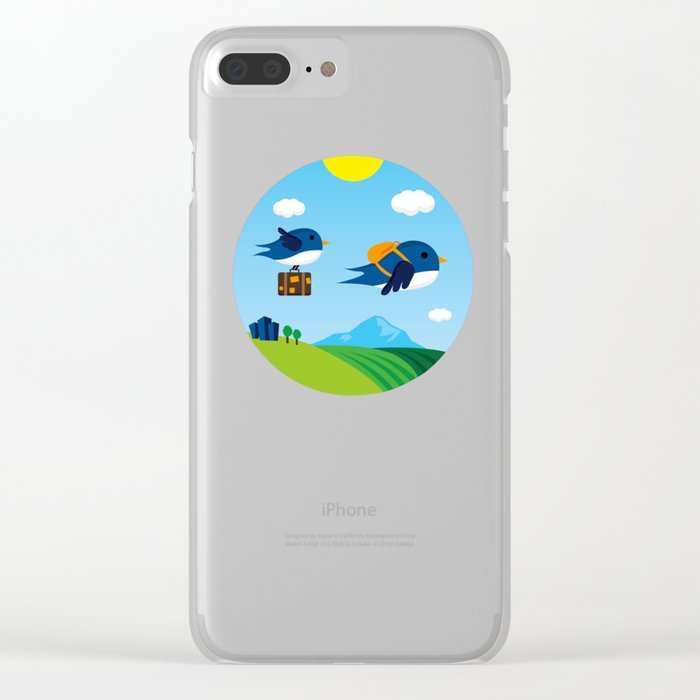 Swallows go to Africa Clear iPhone Case