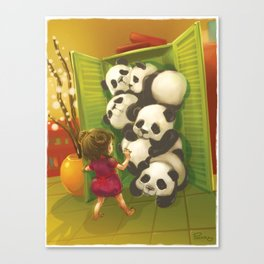 A cupboard of pandas Canvas Print