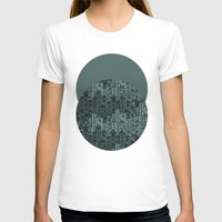 cityscape T-shirts featuring Sky High Cityscape Pattern by Stacey Muir