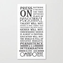 Press On Canvas Print