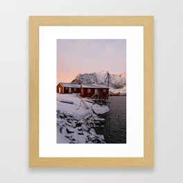 Winter in Lofoten Framed Art Print