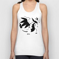 charizard Tank Tops featuring Charizard Mega X by Ruo7in