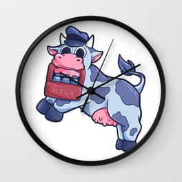 Cow dairy farm bull animal gift Wall Clock