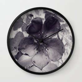 Alberta Wild Rose Wall Clock