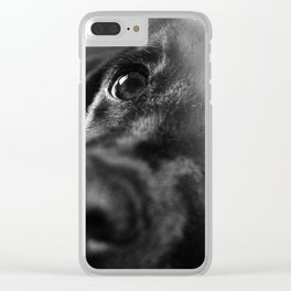 dog char Clear iPhone Case