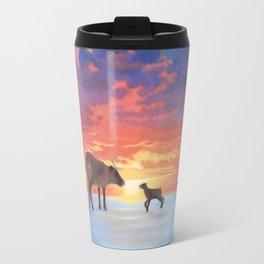 Mother Caribou & her Calf Travel Mug
