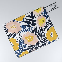 Outdoor: florals matching to design for a happy life Picnic Blanket