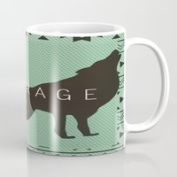courage Mugs featuring Courage by Laura Santeler