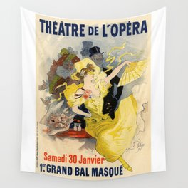 Belle Epoque vintage poster, French Theater, Theatre de L'Opera Wall Tapestry