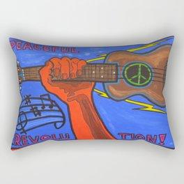 Ukes For Peace Rectangular Pillow