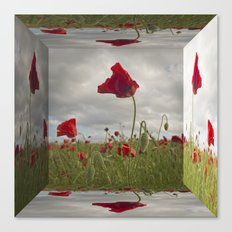 Mirrored Poppies Canvas Print