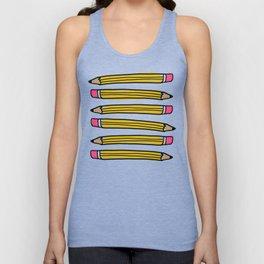 Back to School Pencils Unisex Tank Top