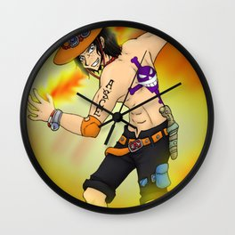 Portugas D ace Lufy One Piece Wall Clock