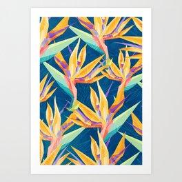 Strelitzia Pattern Art Print