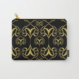 Candy's Scroll Design-Gold Carry-All Pouch
