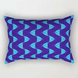 Waves Pattern Blue Rectangular Pillow