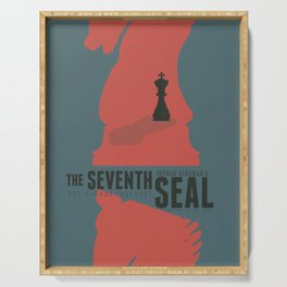 The Seventh Seal, Ingmar Bergman movie poster, swedish film, Max von Sydow Serving Tray