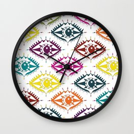 """I see you"" orient eye pattern Wall Clock"