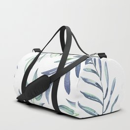 Floating Leaves Blue #society6 #buyart Duffle Bag