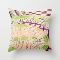 gravity falls Throw Pillows featuring Gravity Falls Quote by writingoverashes