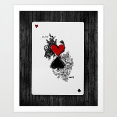 Love Hate Art Print