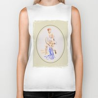 erotic Biker Tanks featuring Erotic lady in lingerie - Retrostyle by Marita Zacharias