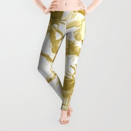 Toucans and Bromeliads - Spicy Mustard Leggings