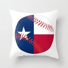 Texas Flag Baseball Throw Pillow