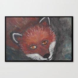 The staring Fox Canvas Print