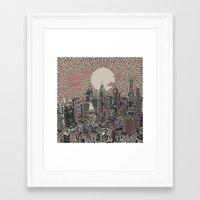 philadelphia Framed Art Prints featuring philadelphia by Bekim ART