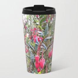 Dartmoor Acid Pink Flowers and an English Country Garden Travel Mug