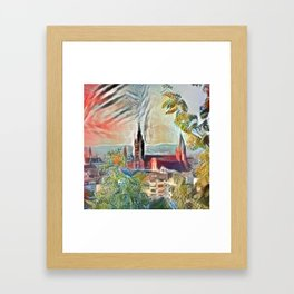 Fall Mainz Cathedral Framed Art Print