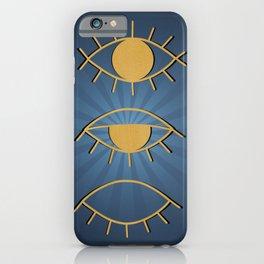 Gold Evil Eye iPhone Case