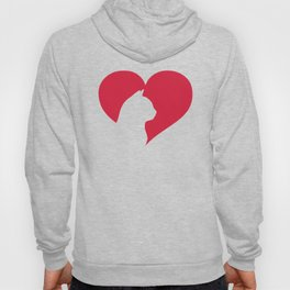 Watercolor Cat Heart Hoody