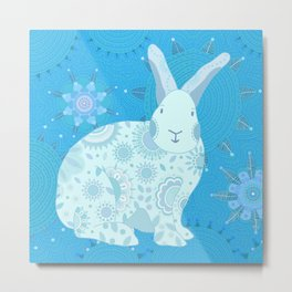 Iced Touchy Bunny Metal Print
