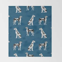 Great Dane harlequin coat dog breed gifts pet patterns for pure breed lovers Throw Blanket