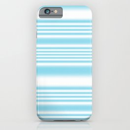 Sky Blue and White Stripes iPhone Case