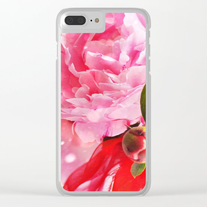 Pretty Pink Peonies :) Clear iPhone Case