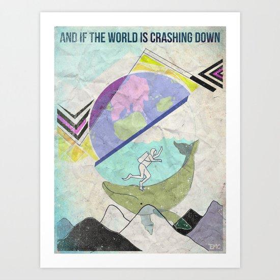 Crashing Art Print